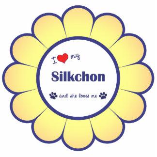 I Liebe mein Silkchon (weiblicher Hund) Acrylausschnitt