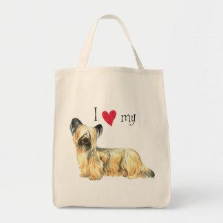 I Liebe mein Skye Terrier Einkaufstasche