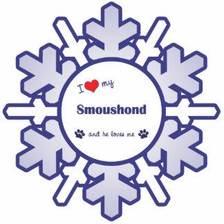 I Liebe mein Smoushond (männlicher Hund) Fotoskulptur Ornament