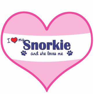 I Liebe mein Snorkie (weiblicher Hund) Fotoausschnitt