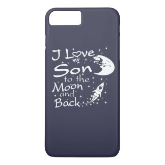 I Liebe mein Sohn zum Mond und zur Rückseite iPhone 8 Plus/7 Plus Hülle
