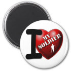 I Liebe mein Soldat Runder Magnet 5,7 Cm