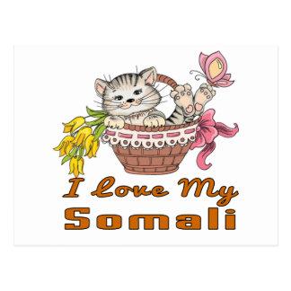 I Liebe mein somalisches Postkarte
