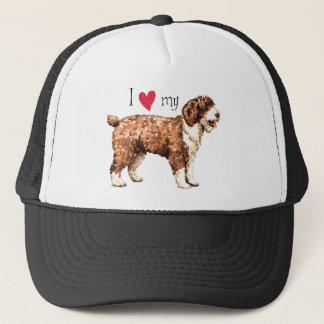 I Liebe mein spanischer Wasser-Hund Truckerkappe