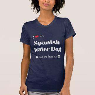I Liebe mein spanischer Wasser-Hund (weiblicher T-Shirt