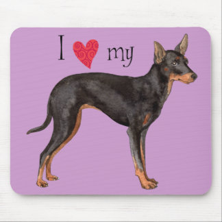 I Liebe mein Spielzeug-Manchester-Terrier Mousepad