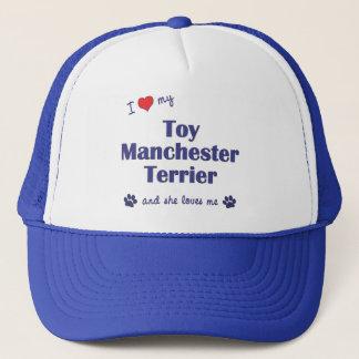 I Liebe mein Spielzeug-Manchester-Terrier Truckerkappe