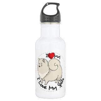 I Liebe mein Spitz-Hund Edelstahlflasche