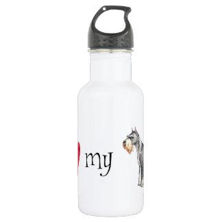 I Liebe mein StandardSchnauzer Edelstahlflasche