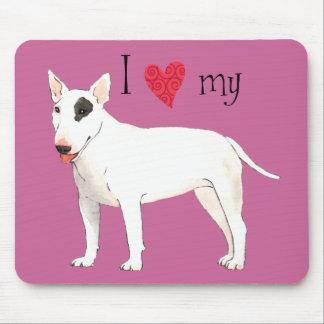 I Liebe mein Stier-Terrier Mousepad