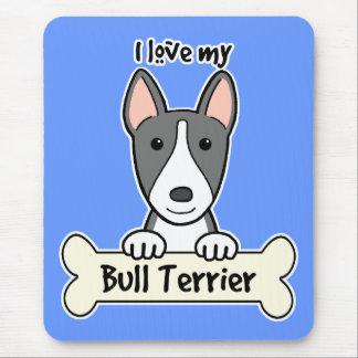I Liebe mein Stier-Terrier Mousepads