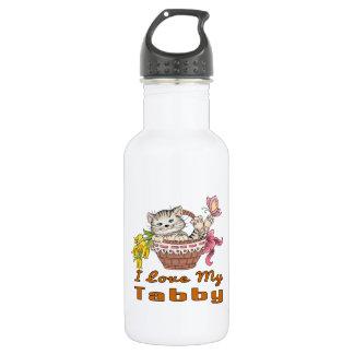I Liebe mein Tabby Edelstahlflasche