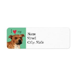 I Liebe mein Terrier Staffordshires Stier
