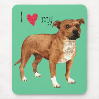 I Liebe mein Terrier Staffordshires Stier Mousepad