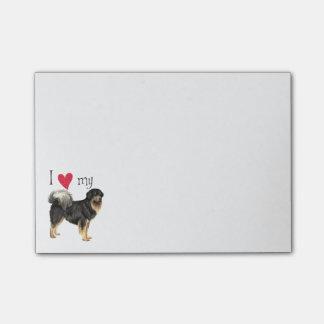 I Liebe mein tibetanischer Mastiff Post-it Klebezettel