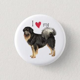 I Liebe mein tibetanischer Mastiff Runder Button 3,2 Cm