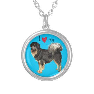 I Liebe mein tibetanischer Mastiff Versilberte Kette