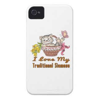 I Liebe mein traditionelles siamesisches iPhone 4 Case-Mate Hüllen