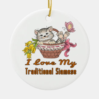 I Liebe mein traditionelles siamesisches Keramik Ornament
