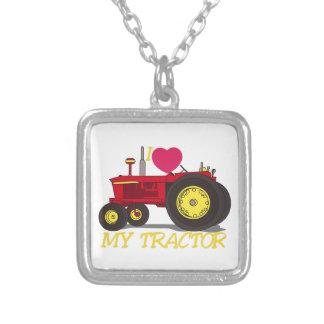 I Liebe mein Traktor Versilberte Kette