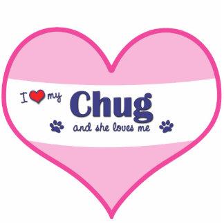 I Liebe mein Tuckern (weiblicher Hund) Foto Ausschnitte