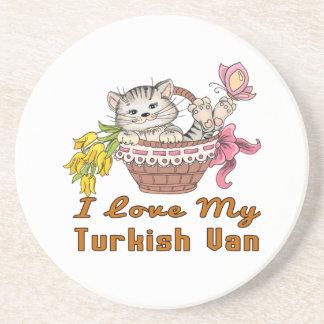 I Liebe mein türkisches Van Getränkeuntersetzer