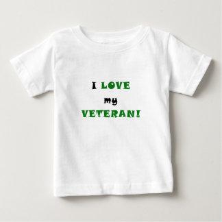 I Liebe mein Veteran Baby T-shirt