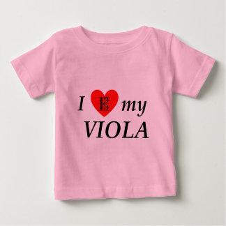 I Liebe mein Viola (i-Herz mein Viola) Baby T-shirt