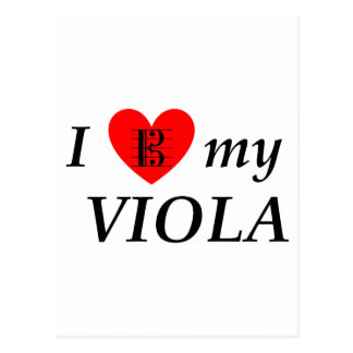 I Liebe mein Viola (i-Herz mein Viola) Postkarte