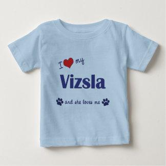 I Liebe mein Vizsla (weiblicher Hund) Baby T-shirt