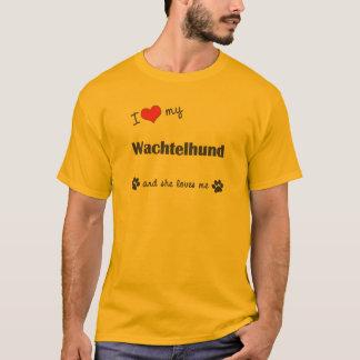 I Liebe mein Wachtelhund (weiblicher Hund) T-Shirt