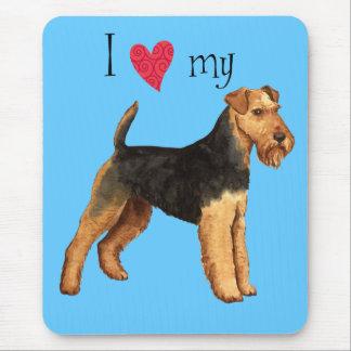 I Liebe mein Waliser-Terrier Mousepad