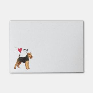 I Liebe mein Waliser-Terrier Post-it Klebezettel