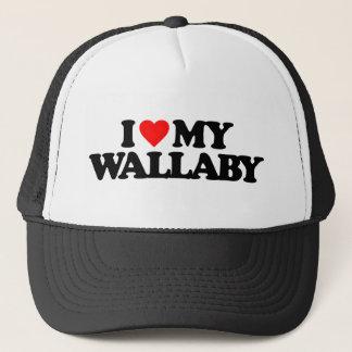 I LIEBE MEIN WALLABY TRUCKERKAPPE