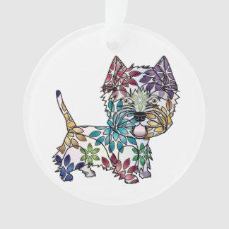I Liebe mein Westie - Kreis-Verzierung Ornament