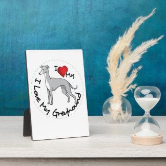 I Liebe mein Windhund-Hund Fotoplatte