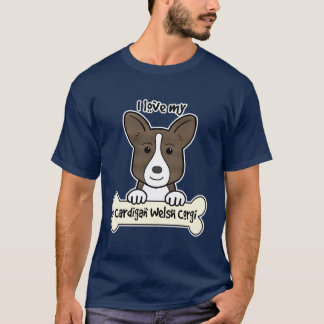 I Liebe mein Wolljacken-WaliserCorgi T-Shirt