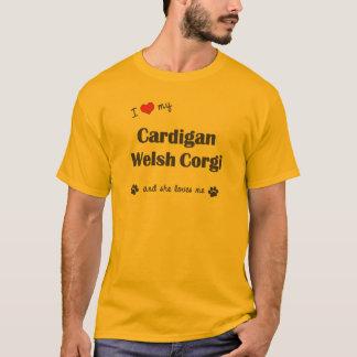 I Liebe mein Wolljacken-WaliserCorgi (weiblicher T-Shirt