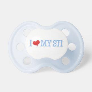 I Liebe mein WTI-Baby-Blau Baby Schnuller