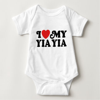 I Liebe mein Yia Yia Baby Strampler