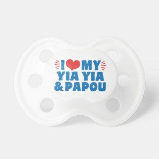 I Liebe mein Yia Yia und Papou Schnuller