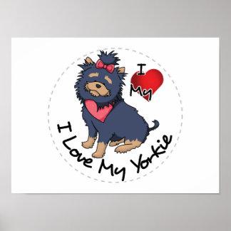I Liebe mein Yorkie Hund Poster