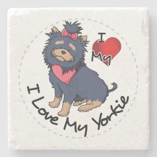 I Liebe mein Yorkie Hund Steinuntersetzer