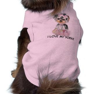 I Liebe mein Yorkie Hundeshirt Shirt