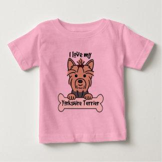 I Liebe mein Yorkshire-Terrier Baby T-shirt