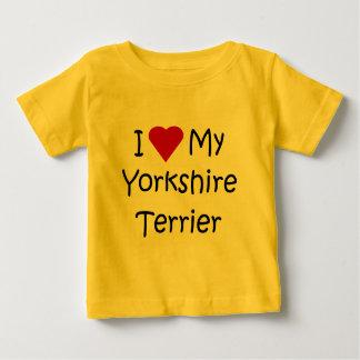 I Liebe mein Yorkshire-Terrier-Shirt für Baby T-shirt