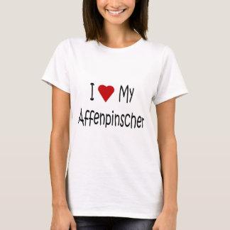 I Liebe meine Affenpinscher-Hundegeschenke und T-Shirt