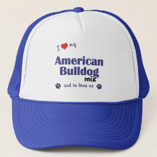 I Liebe meine amerikanische Bulldoggen-Mischung Truckerkappe