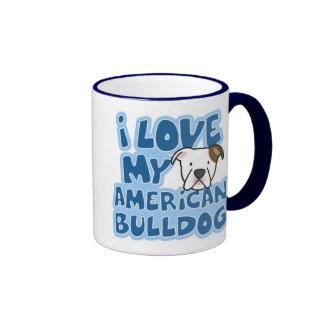 I Liebe meine amerikanische Bulldoggen-Tasse