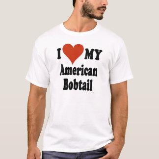 I Liebe meine amerikanischen Bobtail Katzen-Waren T-Shirt